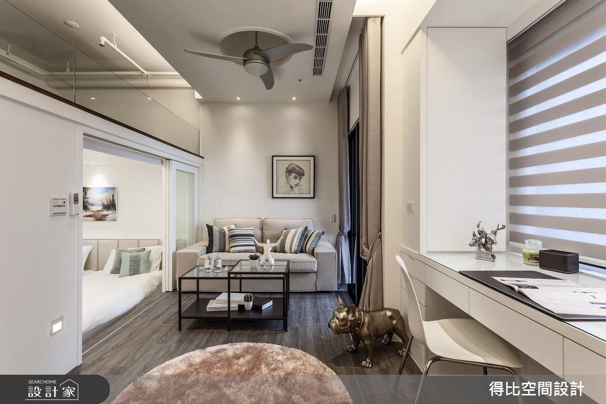 12坪新成屋(5年以下)_北歐風客廳工作區案例圖片_得比空間設計有限公司_得比_42之4