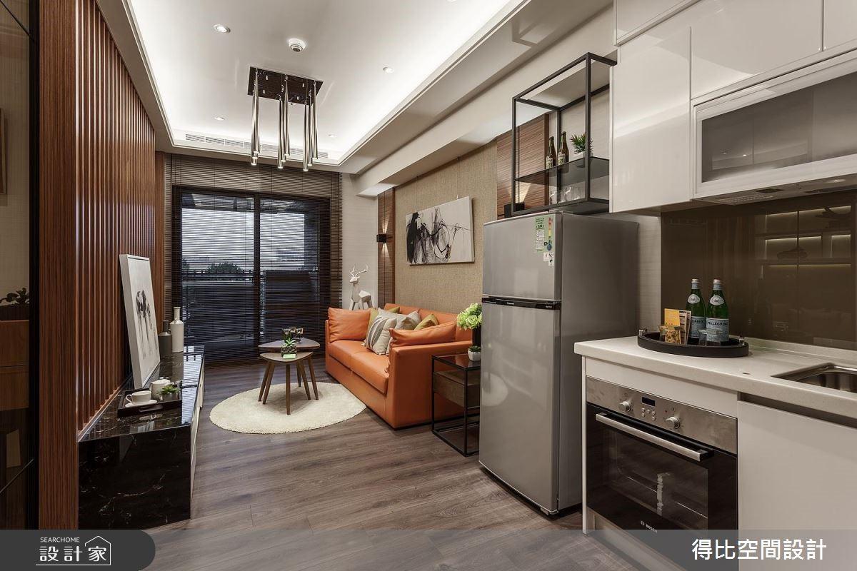 13坪新成屋(5年以下)_休閒風客廳廚房案例圖片_得比空間設計有限公司_得比_46之3