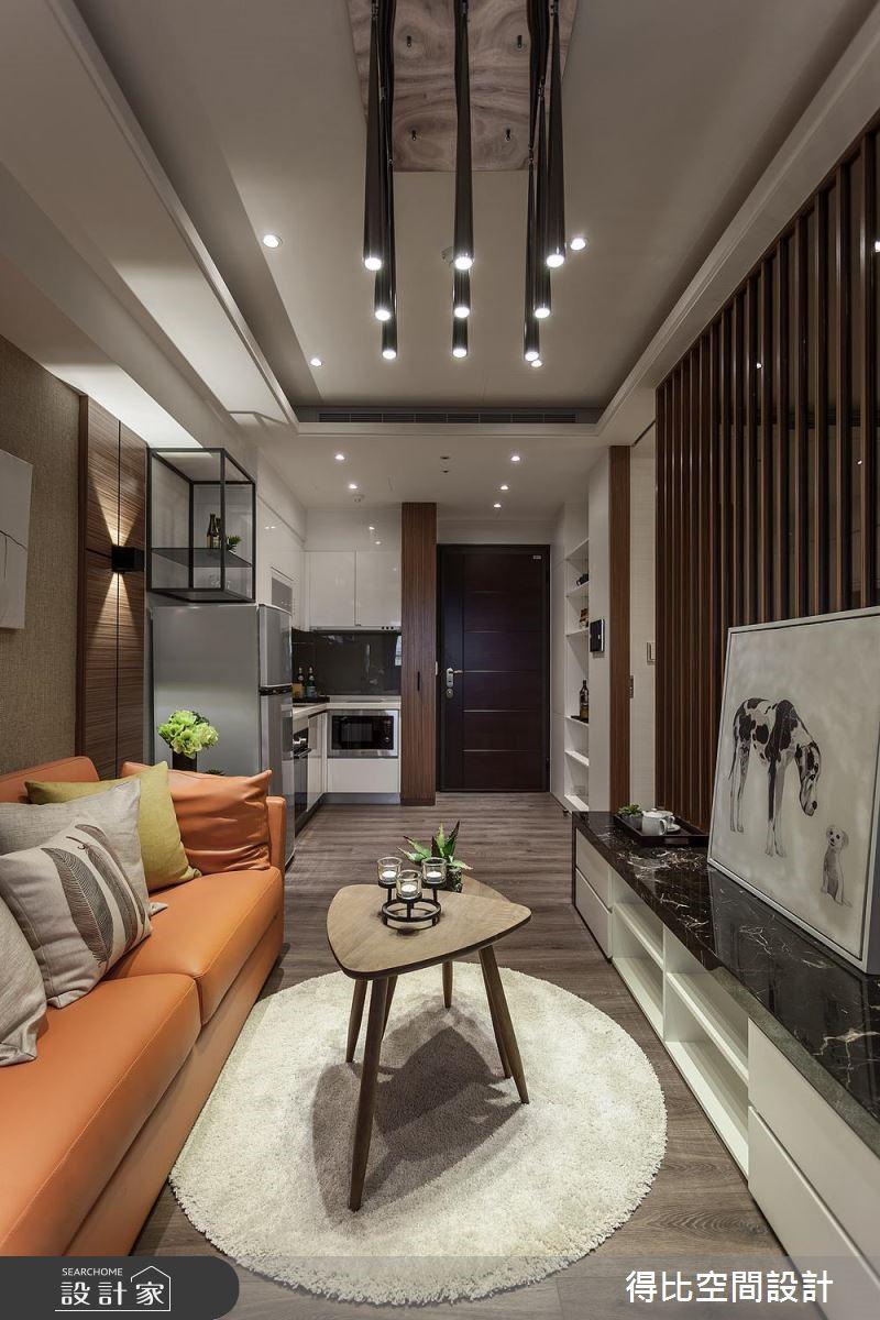 13坪新成屋(5年以下)_休閒風玄關客廳廚房案例圖片_得比空間設計有限公司_得比_46之5