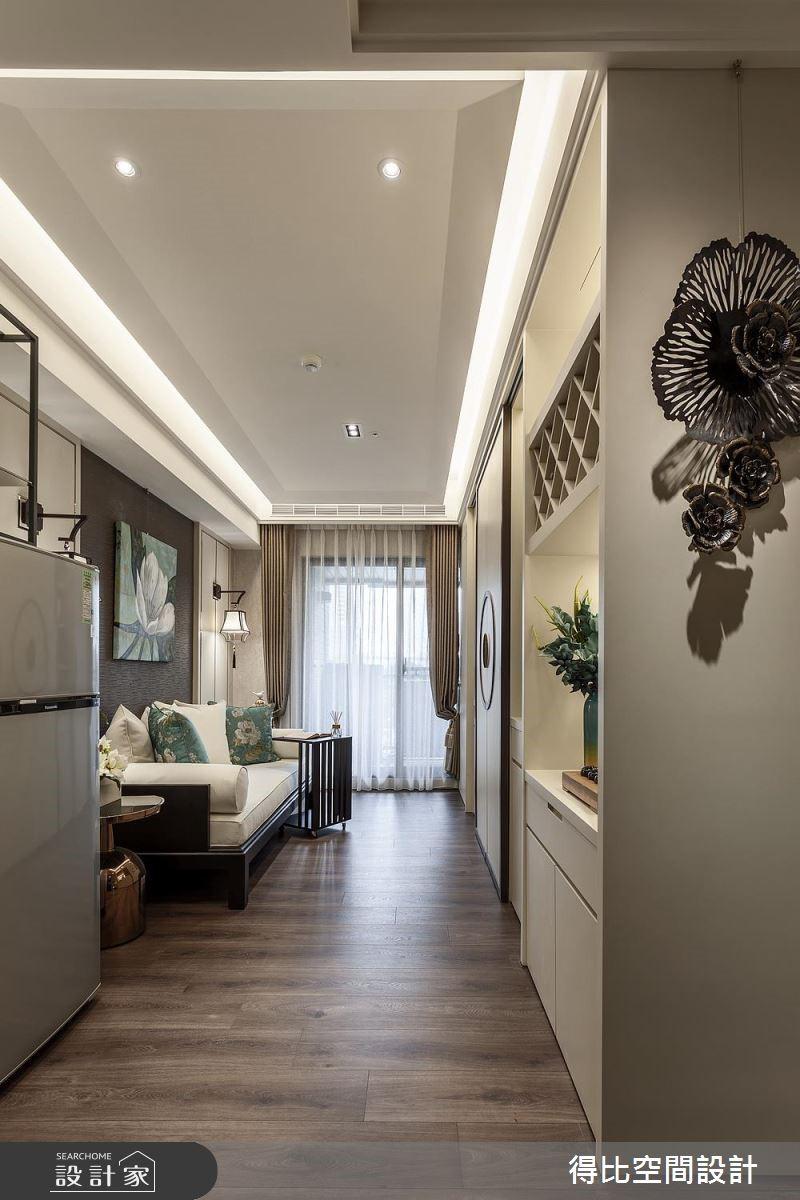 13坪新成屋(5年以下)_新中式風客廳案例圖片_得比空間設計有限公司_得比_47之1