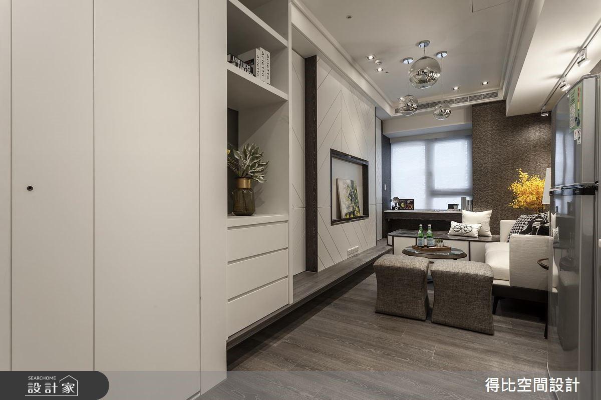 11坪新成屋(5年以下)_現代風客廳案例圖片_得比空間設計有限公司_得比_51之1