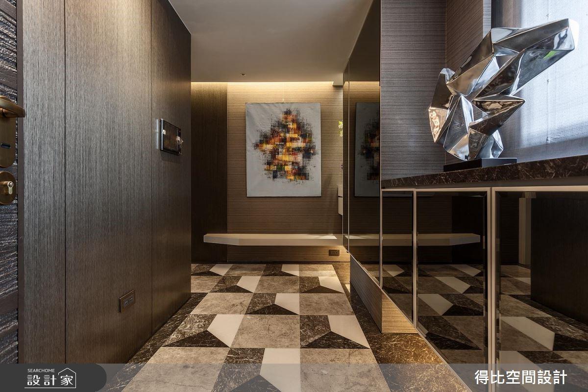 26坪新成屋(5年以下)_奢華風玄關案例圖片_得比空間設計有限公司_得比_52之1