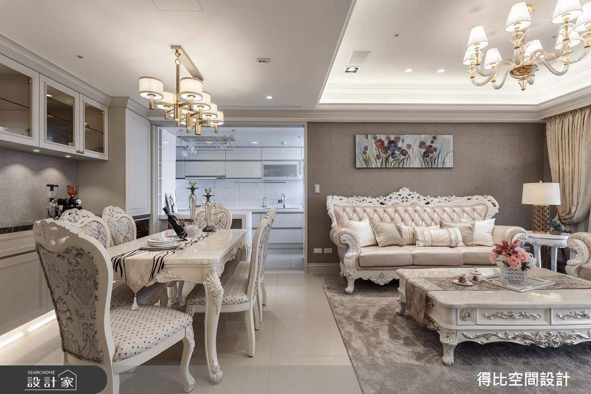 42坪新成屋(5年以下)_新古典客廳餐廳案例圖片_得比空間設計有限公司_得比_53之3