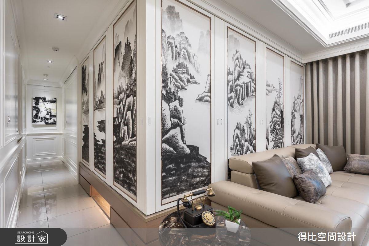 31坪新成屋(5年以下)_新古典客廳和室案例圖片_得比空間設計有限公司_得比_58之5