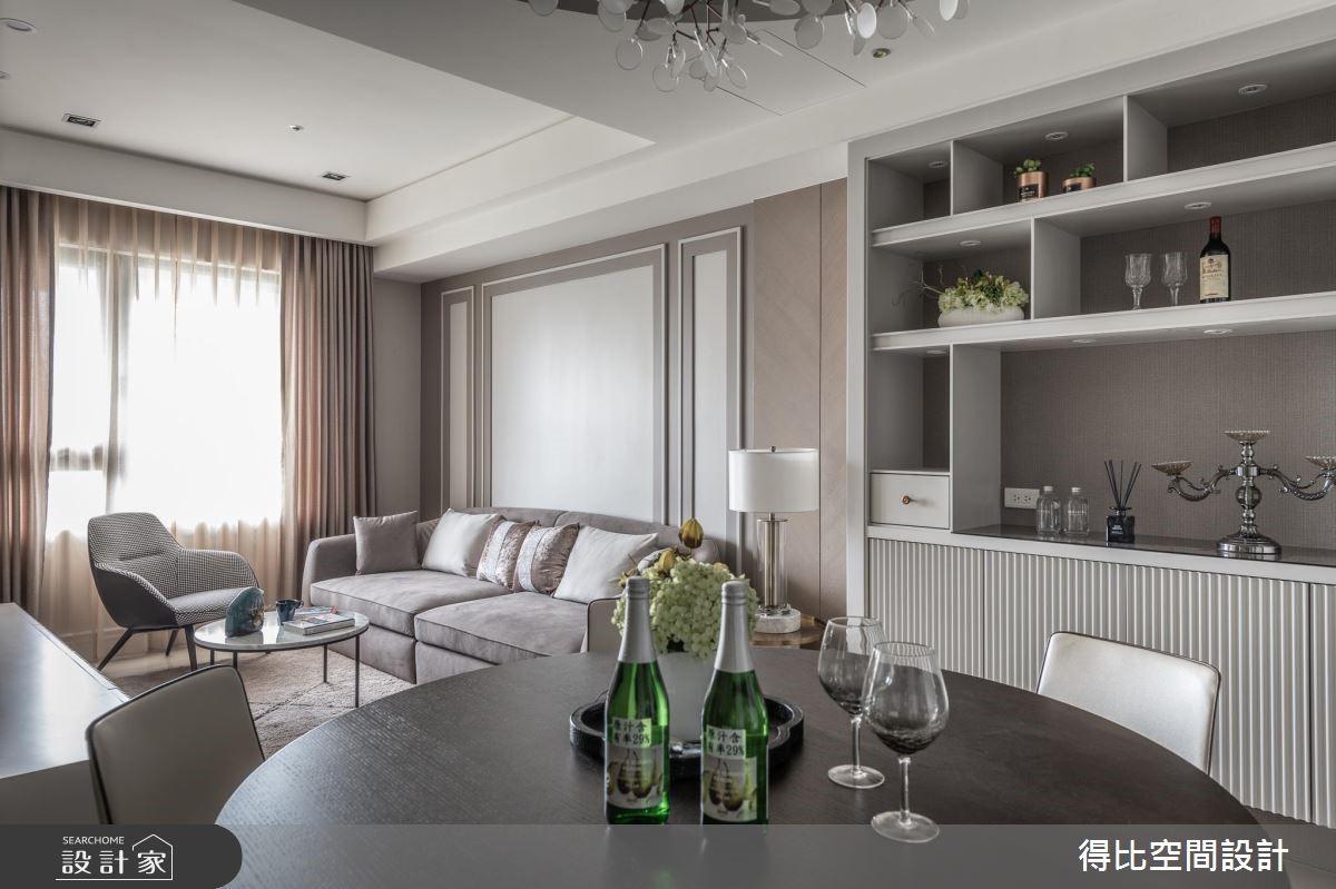 26坪新成屋(5年以下)_新古典客廳餐廳案例圖片_得比空間設計有限公司_得比_61之4