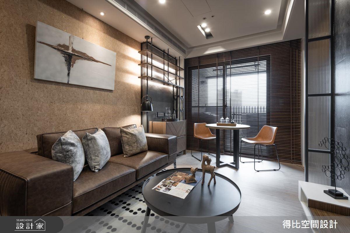 13坪新成屋(5年以下)_工業風客廳餐廳案例圖片_得比空間設計有限公司_得比_62之2
