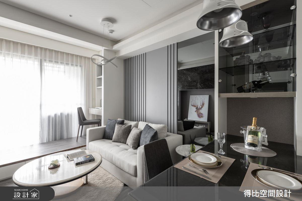 13坪新成屋(5年以下)_現代風客廳餐廳書房案例圖片_得比空間設計有限公司_得比_63之2