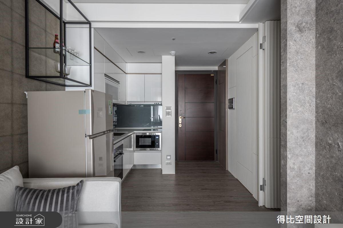 13坪新成屋(5年以下)_現代風玄關餐廳廚房案例圖片_得比空間設計有限公司_得比_67之2