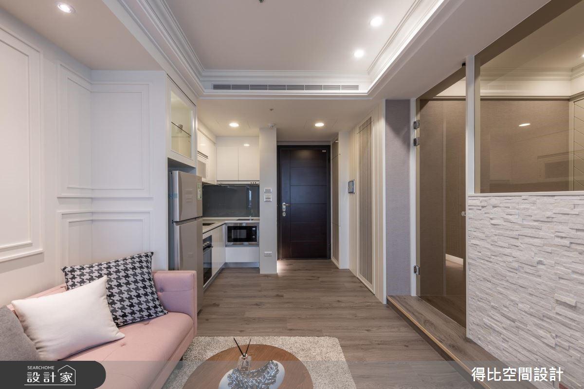 13坪新成屋(5年以下)_美式風玄關客廳廚房案例圖片_得比空間設計有限公司_得比_68之9