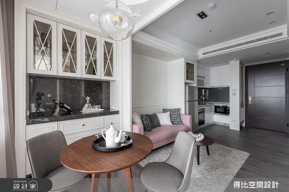13坪新成屋(5年以下)_美式風玄關客廳餐廳廚房案例圖片_得比空間設計有限公司_得比_68之5