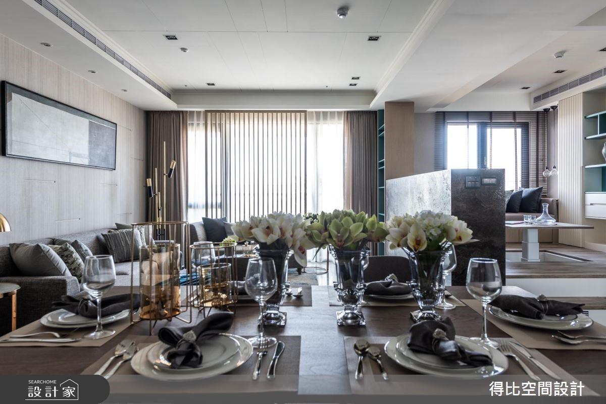 35坪新成屋(5年以下)_現代風餐廳案例圖片_得比空間設計有限公司_得比_70之2