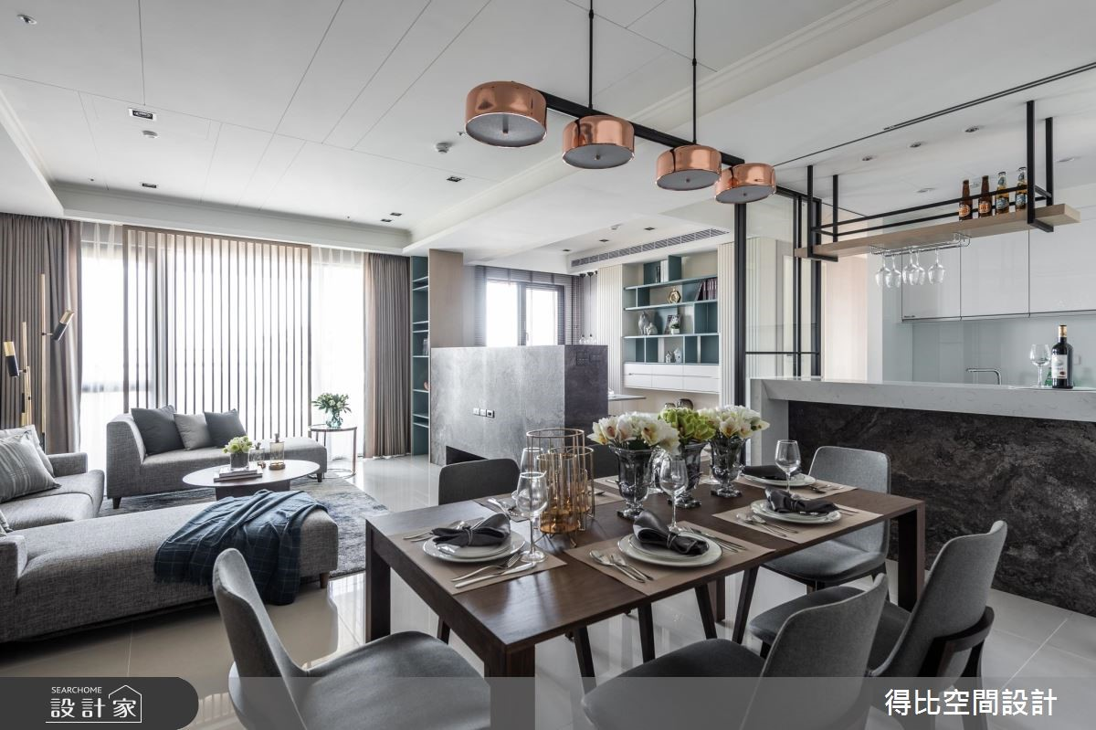 35坪新成屋(5年以下)_現代風餐廳案例圖片_得比空間設計有限公司_得比_70之1