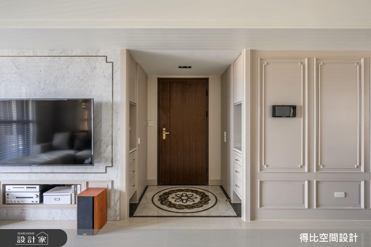 36坪新成屋(5年以下)_美式新古典玄關案例圖片_得比空間設計有限公司_得比_72之1
