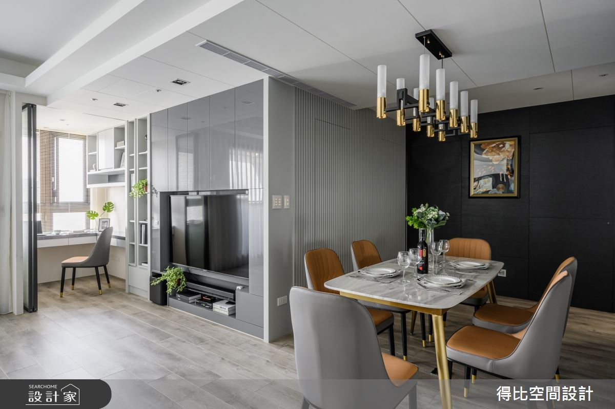 35坪新成屋(5年以下)_現代風餐廳書房案例圖片_得比空間設計有限公司_得比_73之3