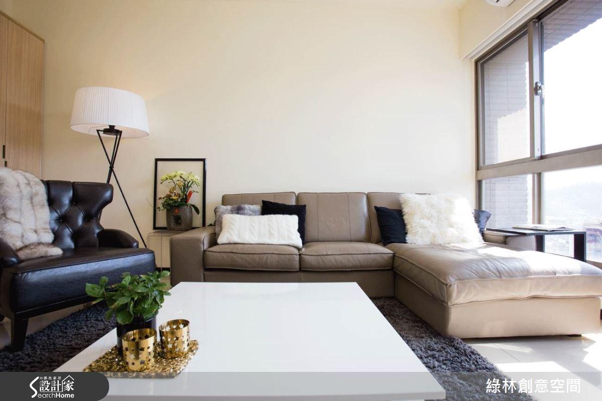 27坪新成屋(5年以下)_簡約風客廳案例圖片_綠林創意空間_綠林_01之4