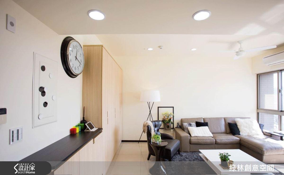 27坪新成屋(5年以下)_簡約風客廳案例圖片_綠林創意空間_綠林_01之6