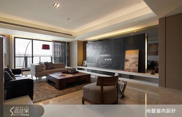 50坪新成屋(5年以下)_現代風客廳案例圖片_尚藝室內設計_尚藝_09之2