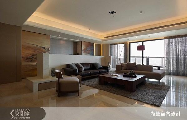 50坪新成屋(5年以下)_現代風客廳案例圖片_尚藝室內設計_尚藝_09之1