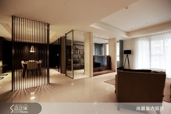 45坪新成屋(5年以下)_現代風客廳案例圖片_尚藝室內設計_尚藝_15未來之光之2