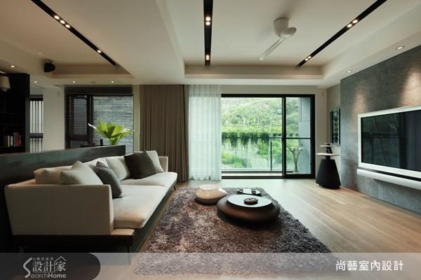 40坪新成屋(5年以下)_現代風客廳案例圖片_尚藝室內設計_尚藝_25鄉林大境之3