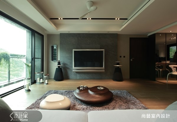 40坪新成屋(5年以下)_現代風客廳案例圖片_尚藝室內設計_尚藝_25鄉林大境之4