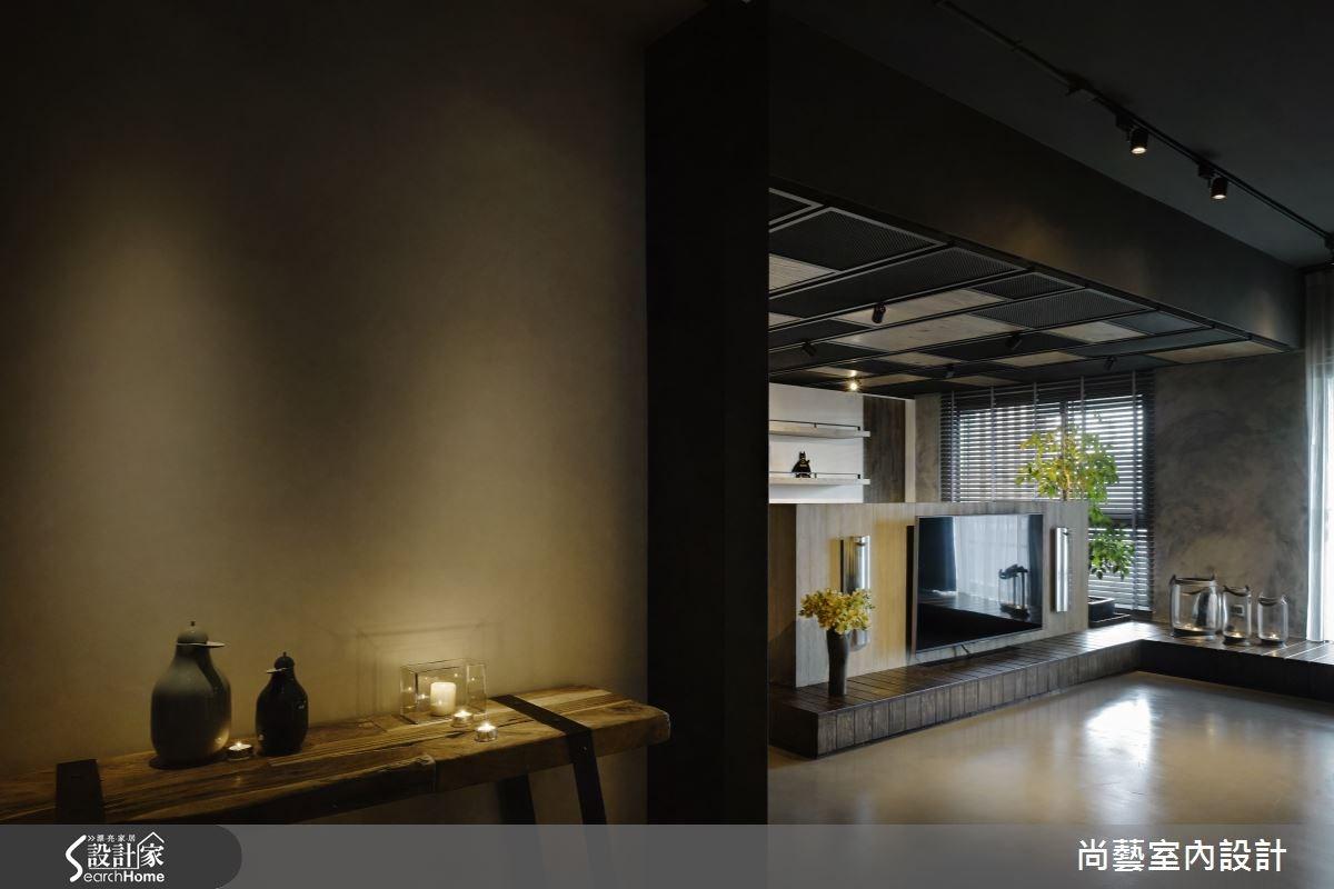 48坪新成屋(5年以下)_工業風客廳案例圖片_尚藝室內設計_尚藝_32林口一悅藏之1