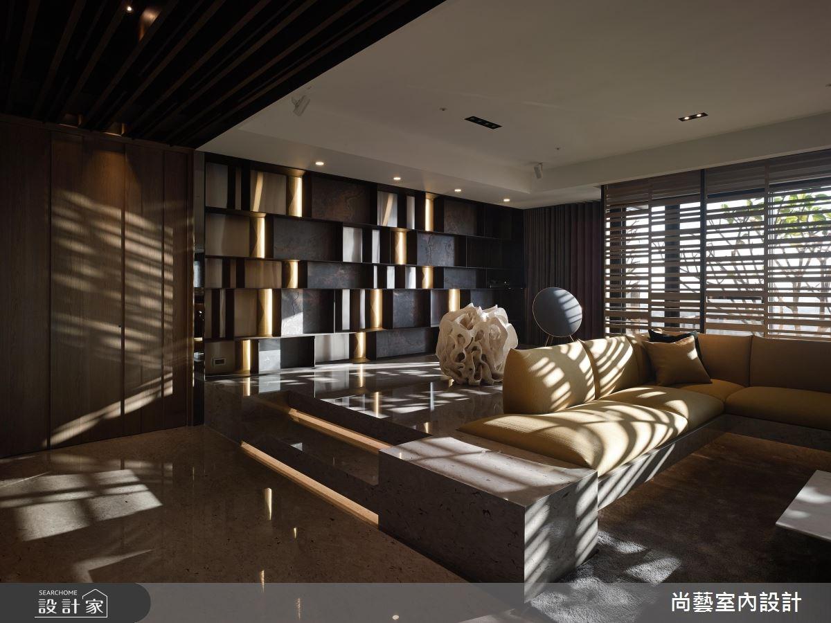 87坪新成屋(5年以下)_奢華風客廳案例圖片_尚藝室內設計_尚藝_33台中入深林之7