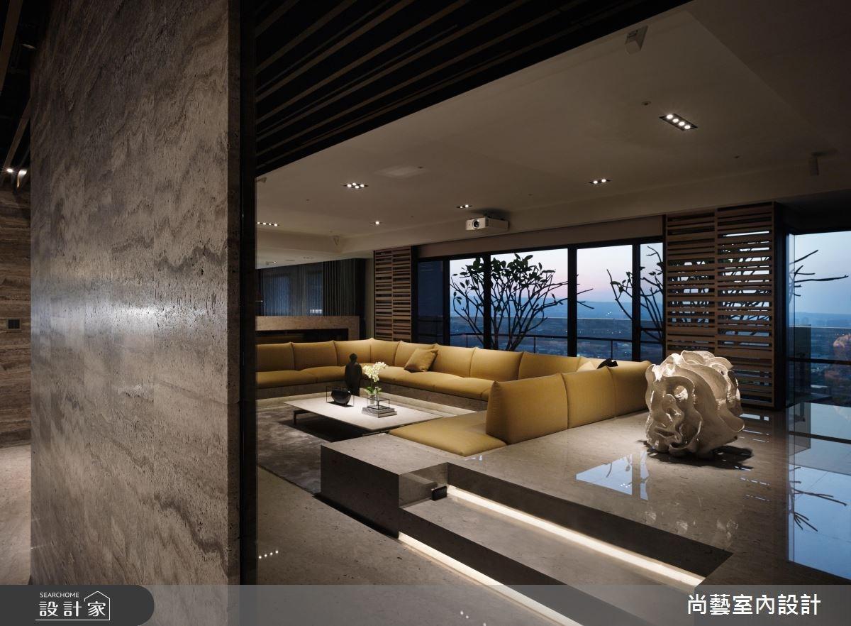 87坪新成屋(5年以下)_奢華風客廳案例圖片_尚藝室內設計_尚藝_33台中入深林之10