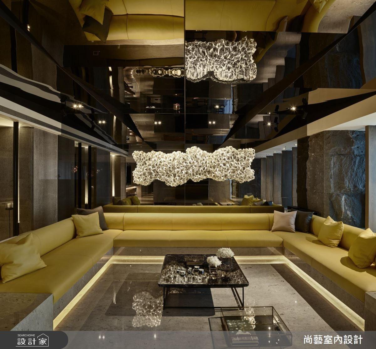 99坪新成屋(5年以下)_簡約風客廳案例圖片_尚藝室內設計_尚藝_41寶輝秋紅谷之3