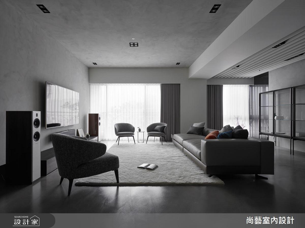 50坪新成屋(5年以下)_現代風客廳案例圖片_尚藝室內設計_尚藝_昇陽琉光謐境之4