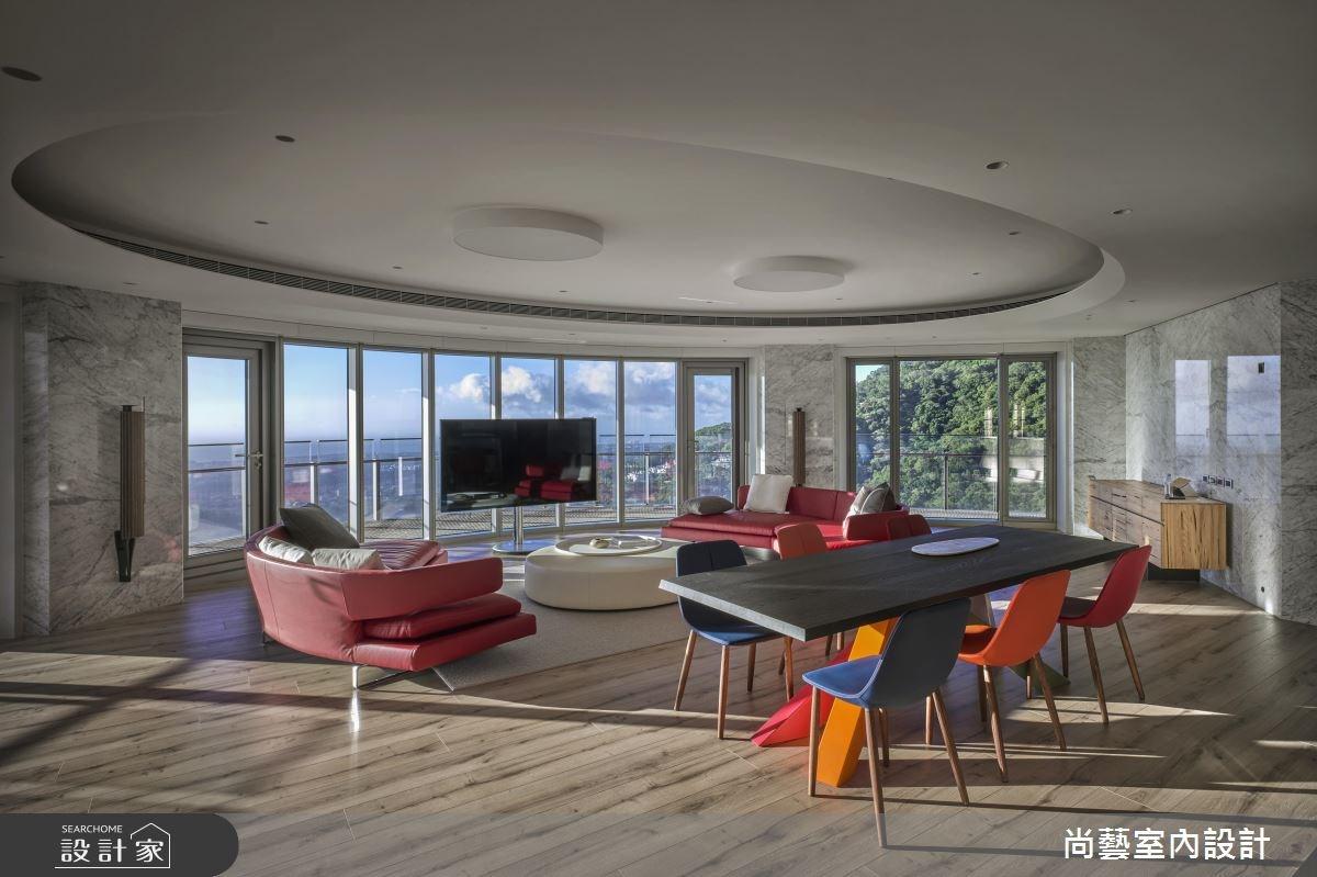 153坪新成屋(5年以下)_休閒風客廳案例圖片_尚藝室內設計_尚藝_47天境360之3