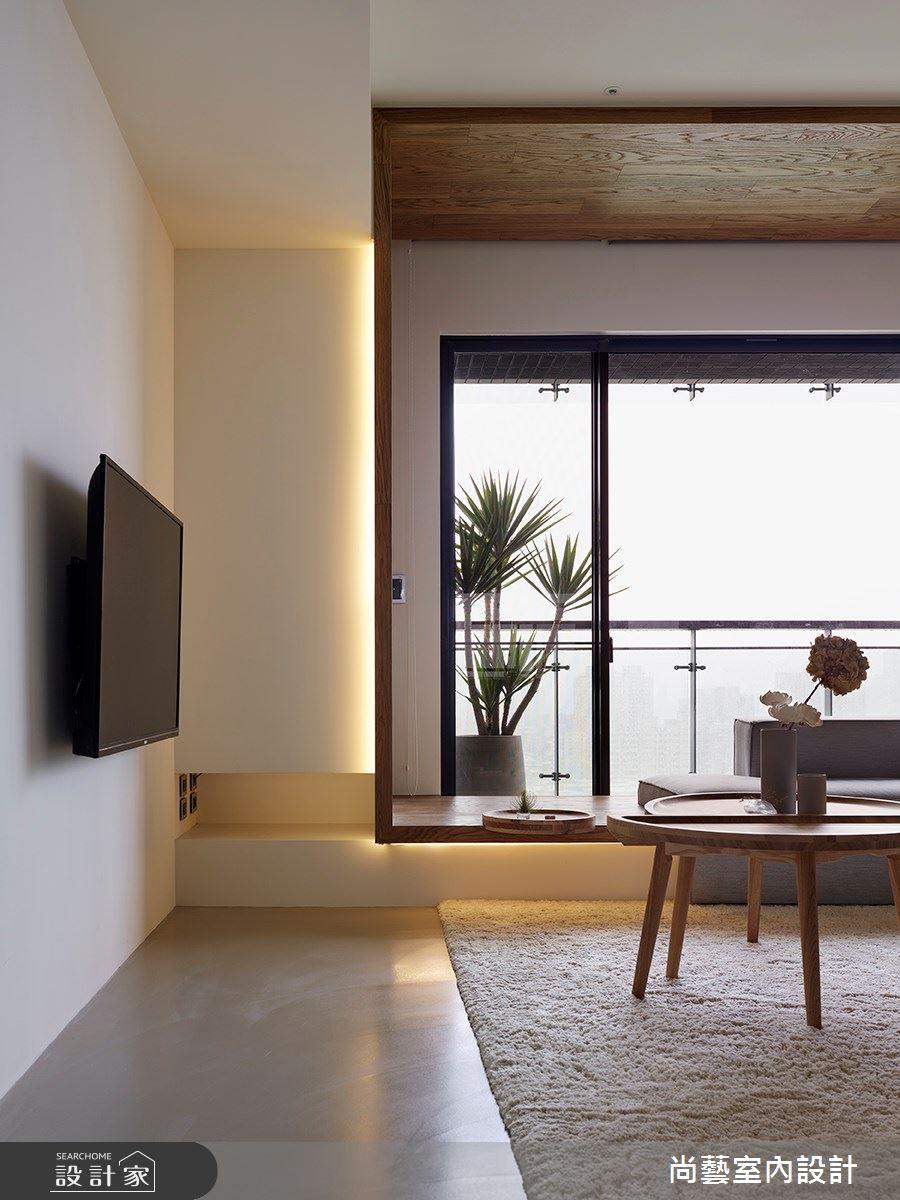 28坪預售屋_現代風客廳案例圖片_尚藝室內設計_尚藝_49力麒家家富富框景之4