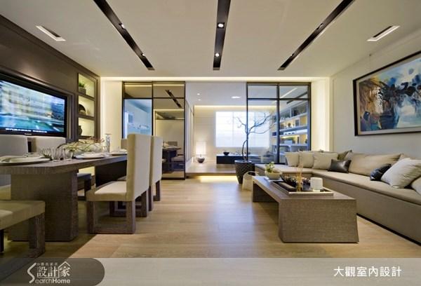 29坪預售屋_奢華風客廳餐廳和室案例圖片_大觀室內設計工程有限公司_大觀_05之3