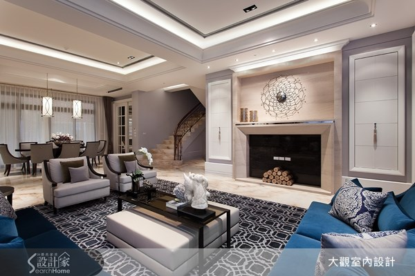 117坪新成屋(5年以下)_新古典客廳餐廳案例圖片_大觀室內設計工程有限公司_大觀_17之3