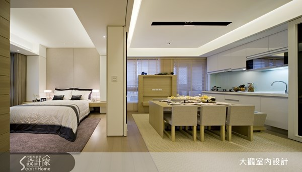 15坪新成屋(5年以下)_現代風餐廳廚房臥室案例圖片_大觀室內設計工程有限公司_大觀_13之3