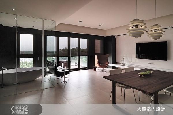 15坪新成屋(5年以下)_現代風客廳餐廳浴室案例圖片_大觀室內設計工程有限公司_大觀_09之4