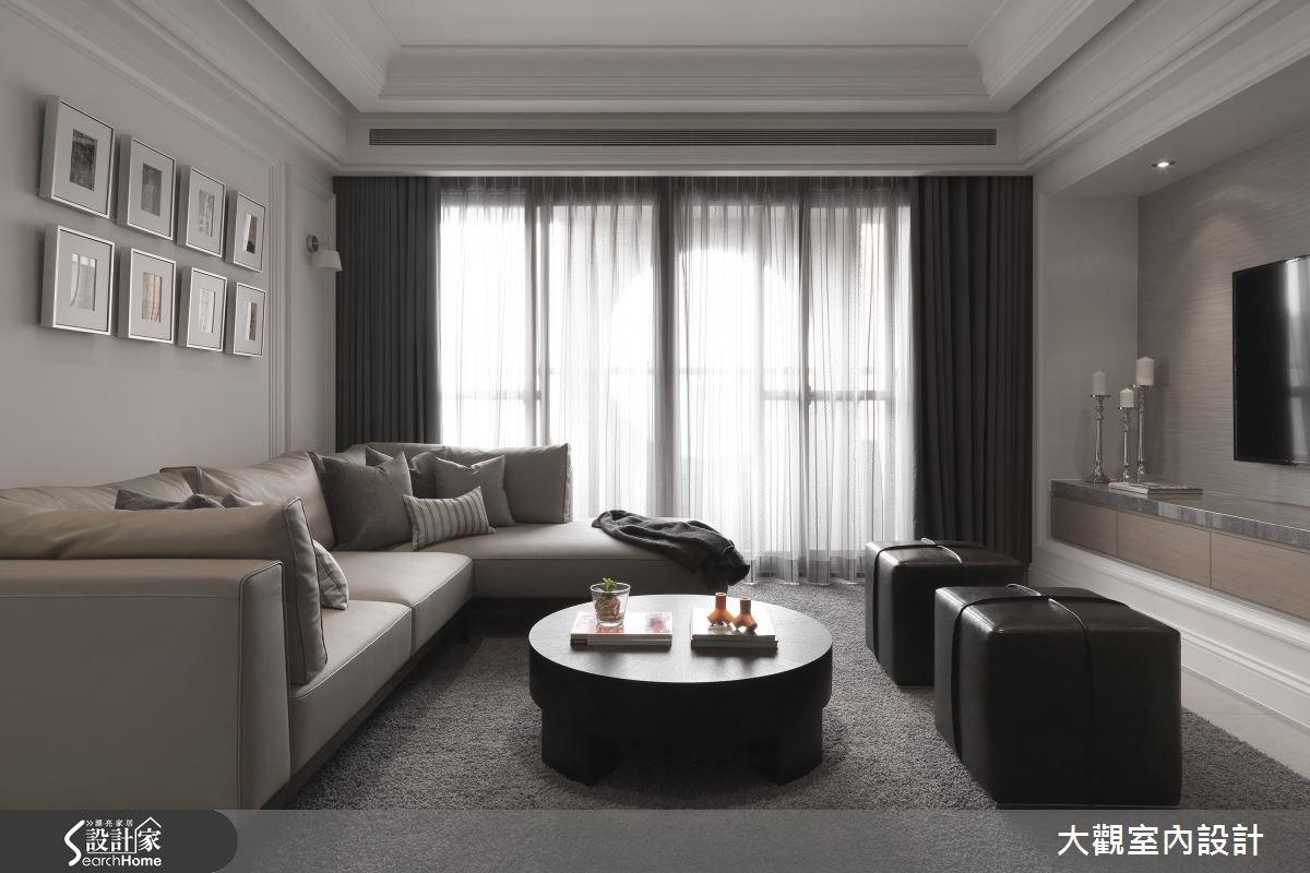 40坪老屋(16~30年)_新古典客廳案例圖片_大觀室內設計工程有限公司_大觀_23之1