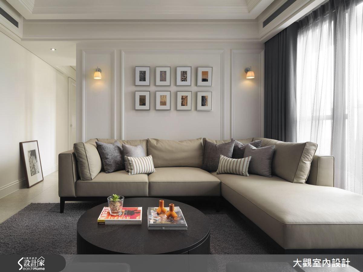 40坪老屋(16~30年)_新古典客廳案例圖片_大觀室內設計工程有限公司_大觀_23之2