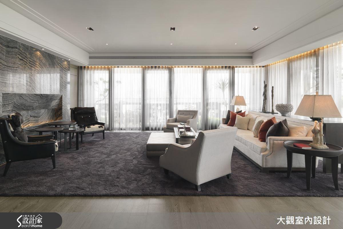 預售屋_新古典客廳案例圖片_大觀室內設計工程有限公司_大觀_25之1