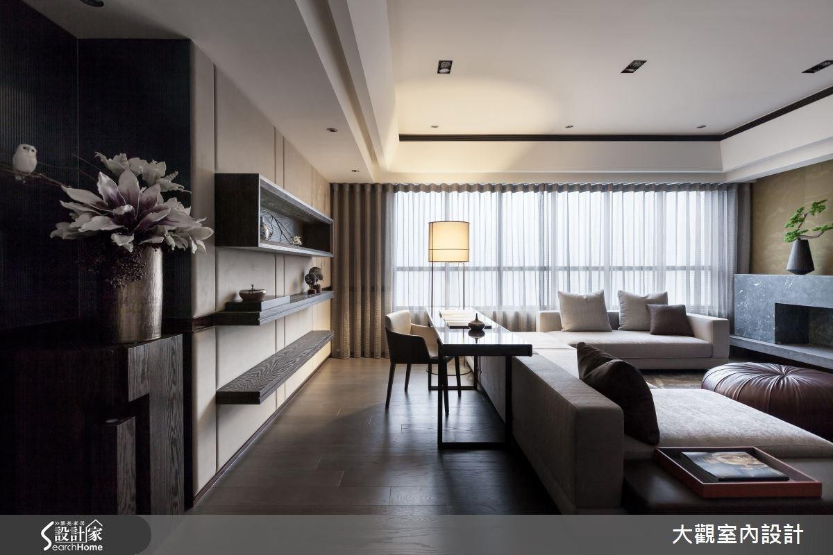 39坪預售屋_新中式風客廳案例圖片_大觀室內設計工程有限公司_大觀_30之2