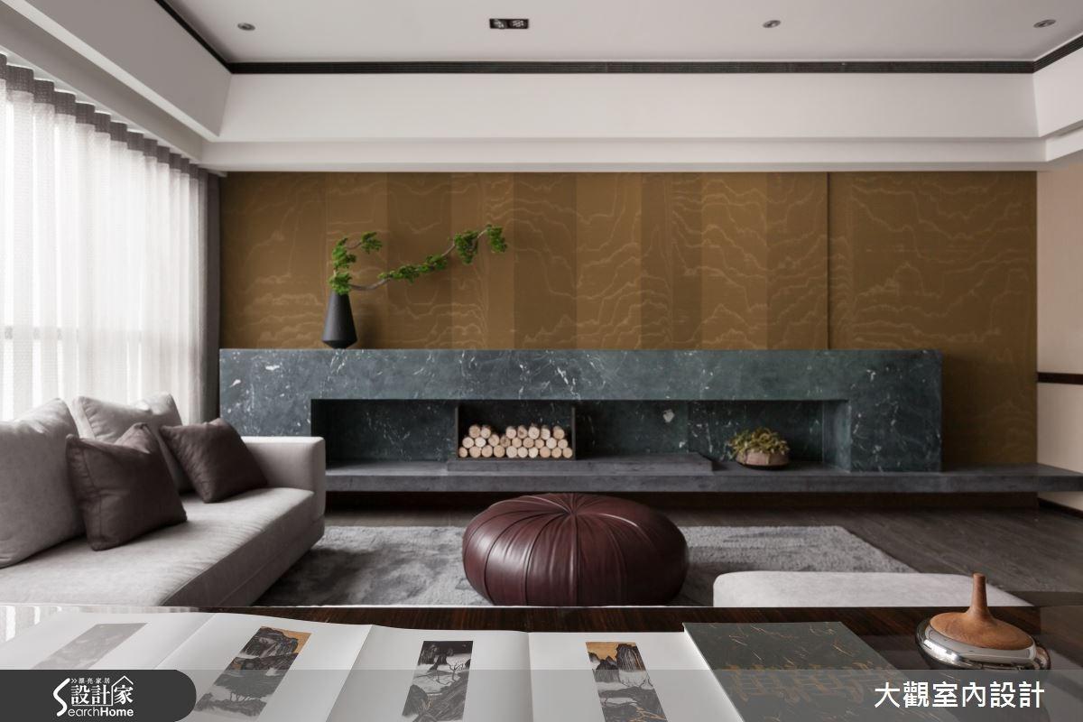 39坪預售屋_新中式風客廳案例圖片_大觀室內設計工程有限公司_大觀_30之3