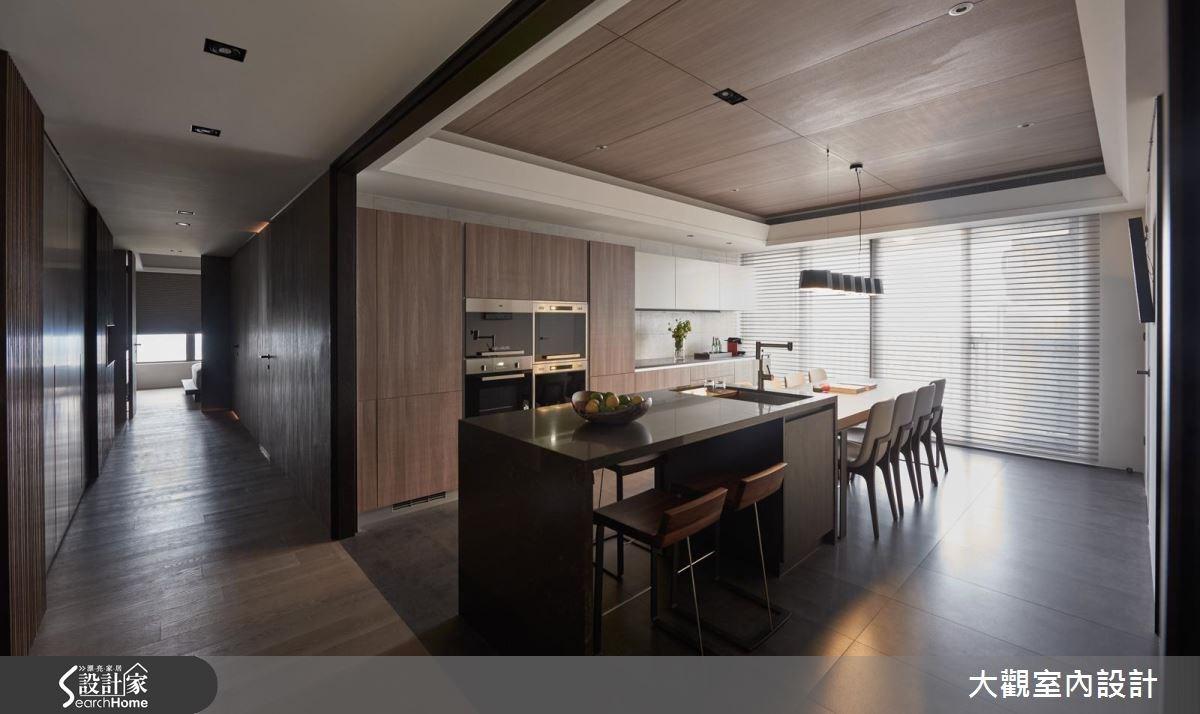 70坪新成屋(5年以下)_現代風餐廳廚房案例圖片_大觀室內設計工程有限公司_大觀_31之8