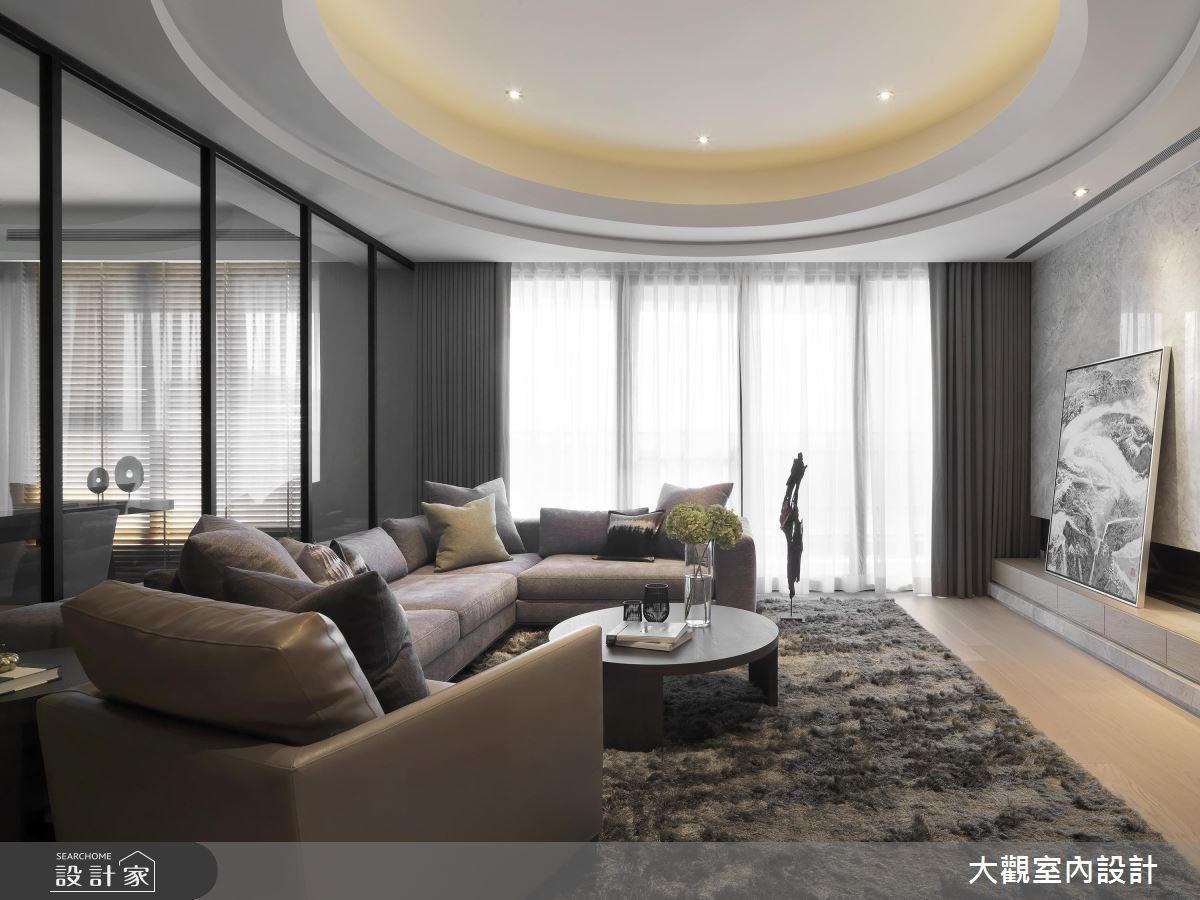 43坪新成屋(5年以下)_人文禪風客廳案例圖片_大觀室內設計工程有限公司_大觀_34之1
