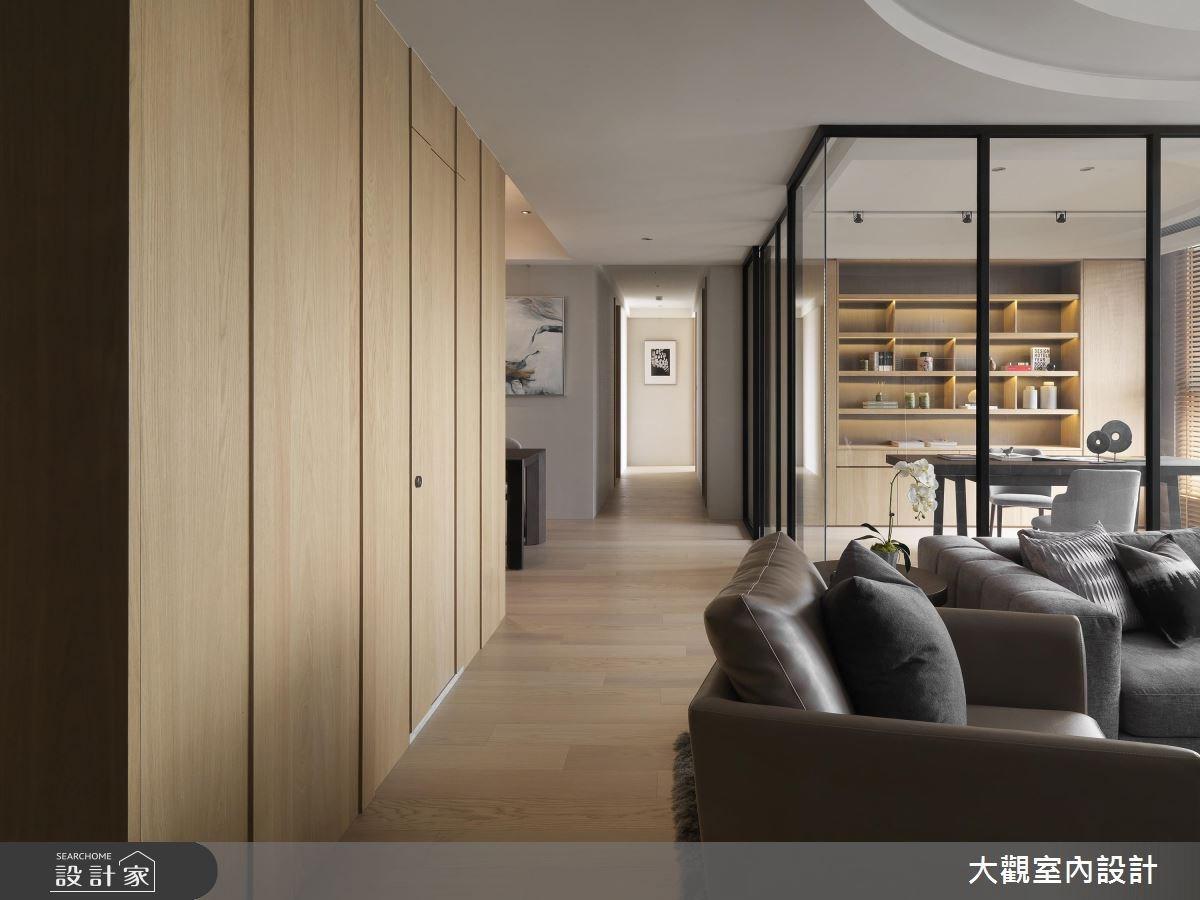 43坪新成屋(5年以下)_人文禪風客廳走廊案例圖片_大觀室內設計工程有限公司_大觀_34之3