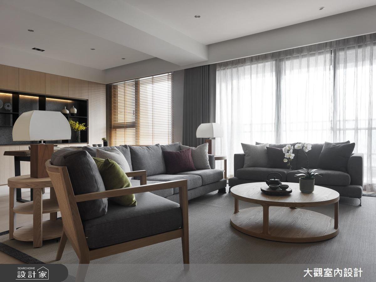 43坪新成屋(5年以下)_人文禪風客廳書房案例圖片_大觀室內設計工程有限公司_大觀_35之2