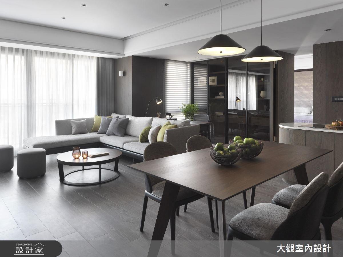 34坪新成屋(5年以下)_現代風客廳餐廳案例圖片_大觀室內設計工程有限公司_大觀_37之2