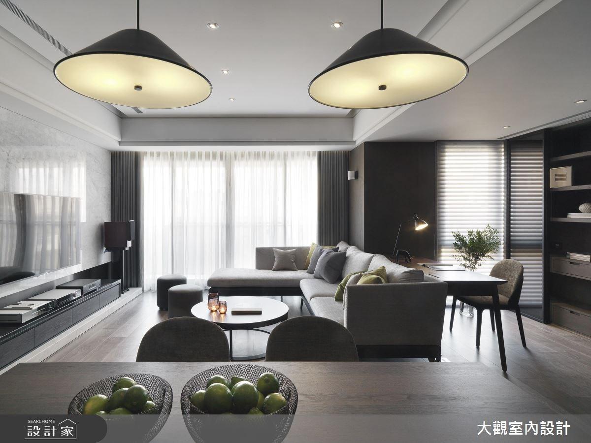 34坪新成屋(5年以下)_現代風客廳案例圖片_大觀室內設計工程有限公司_大觀_37之4