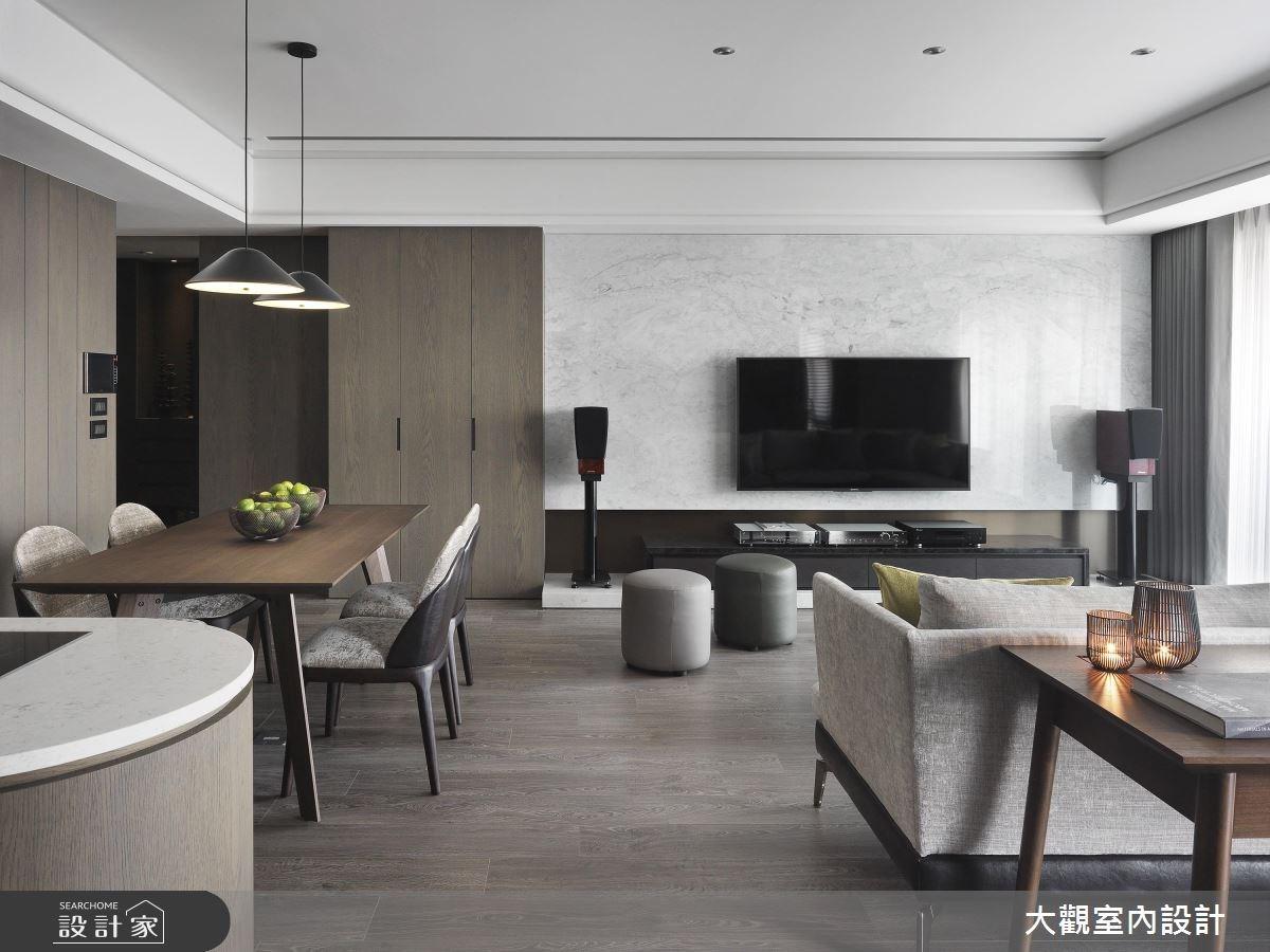 34坪新成屋(5年以下)_現代風客廳餐廳案例圖片_大觀室內設計工程有限公司_大觀_37之5