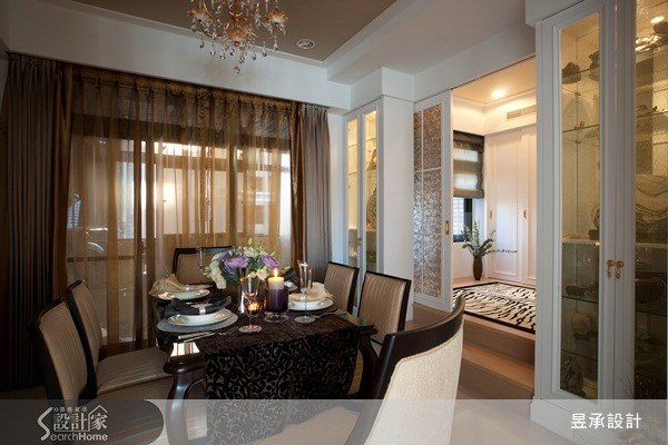 55坪新成屋(5年以下)_新古典餐廳案例圖片_昱承室內裝修設計_昱承_07之5
