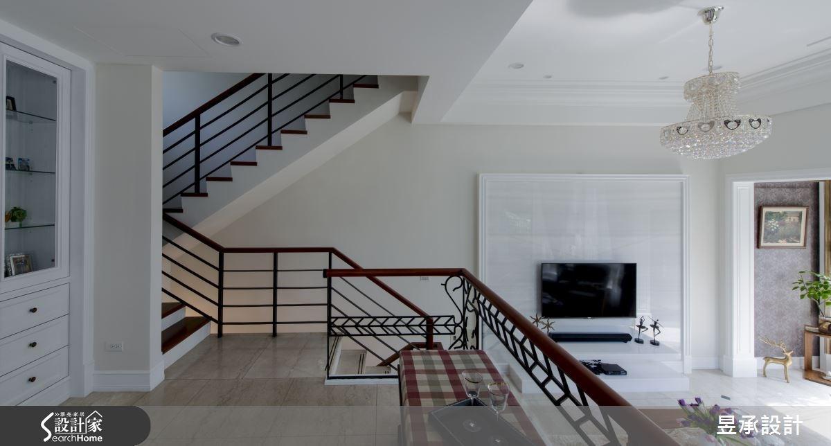 120坪老屋(16~30年)_美式風樓梯案例圖片_昱承室內裝修設計_昱承_30之4
